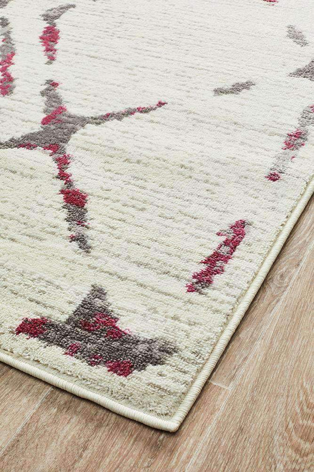 Kendall Contemporary Diamond Rug White Pink Grey-Modern-Rug Culture-Rug Emporium (1417098330163)