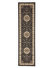 Medallion Rug Black With Ivory Border-Traditional-Rug Culture-Rug Emporium (617898704947)