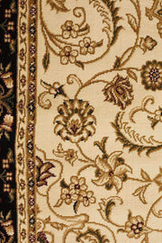 Medallion Rug Ivory With Black Border-Traditional-Rug Culture-Rug Emporium (617898541107)