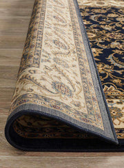 Medallion Rug Navy With Ivory Border-Traditional-Rug Culture-Rug Emporium