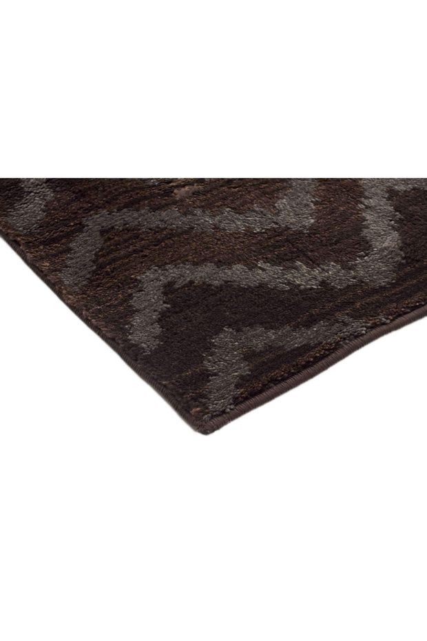 Moroccan Chevron Design Rug Brown Grey-Modern-Rug Culture-Rug Emporium (617892184115)