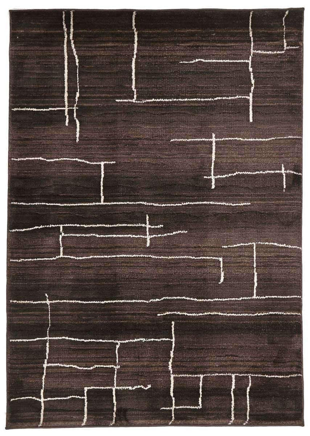 Moroccan Paved Design Rug Chocolate-Modern-Rug Culture-Rug Emporium (617891954739)