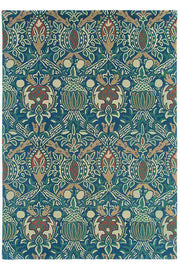 Morris & Co Granada Indigo/Red 27608-Designer-William Morris-Rug Emporium (1587805552691)