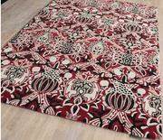 Morris & Co Granada Red/Black 27600-Designer-William Morris-Rug Emporium (1587805356083)