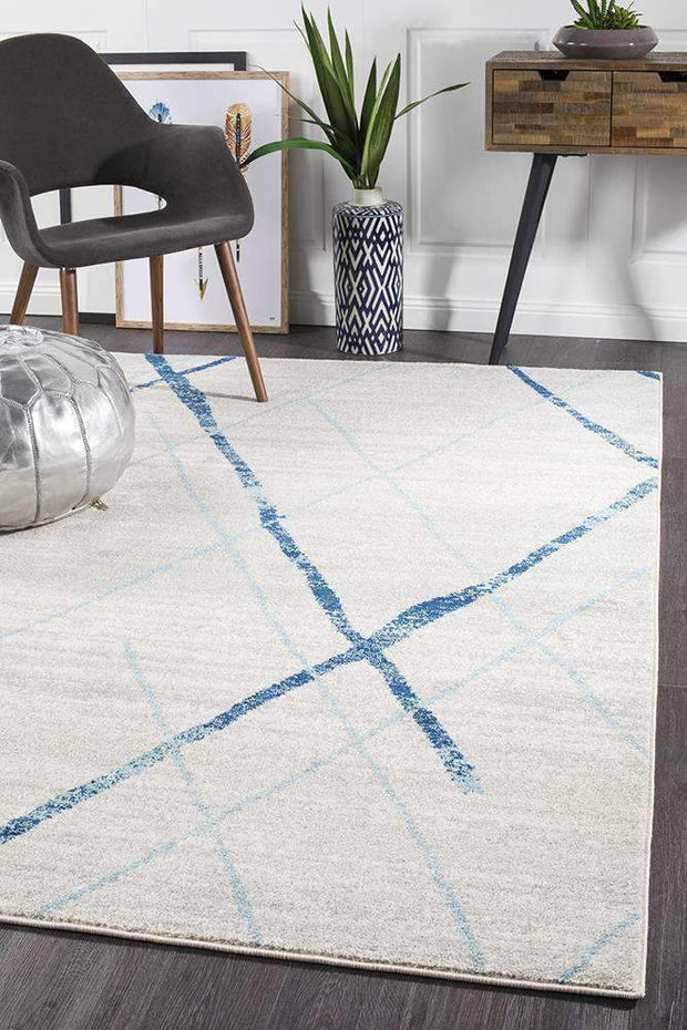 Noah White Blue Contemporary Rug-Modern-Rug Culture-Rug Emporium (573679009843)