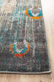 Peacock Feather Austin Rug Grey Blue Rust-Modern-Rug Culture-Rug Emporium (3926143175)