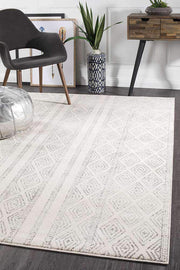 Salma White And Grey Tribal Rug-Modern-Rug Culture-Rug Emporium (573678846003)