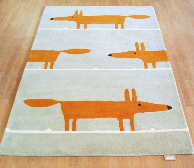 Scion Mr Fox Rug Aqua 25308-Designer-Scion Rugs-Rug Emporium (1587802603571)