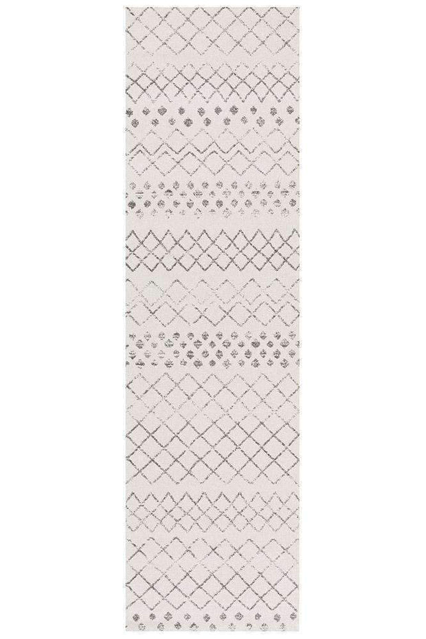 Selma White Grey Tribal Rug-Modern-Rug Culture-Rug Emporium (573679534131)
