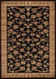 Traditional Floral Design Rug Black-Traditional-Rug Culture-Rug Emporium