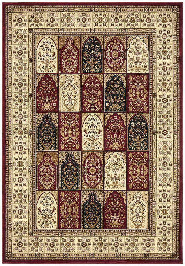 Traditional Panel Design Burgundy With Ivory-Traditional-Rug Culture-Rug Emporium (617898901555)