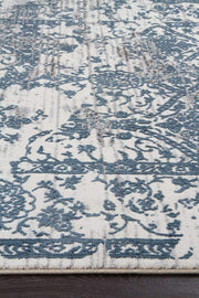 Yasmin Distressed Transitional Rug White Blue Grey-Transitional-Rug Culture-Rug Emporium (617866788915)