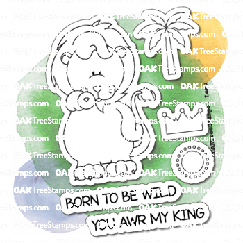 Animal Parade Stamp Set 07 - Leeu