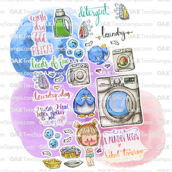 Laundry Today Sticker Page