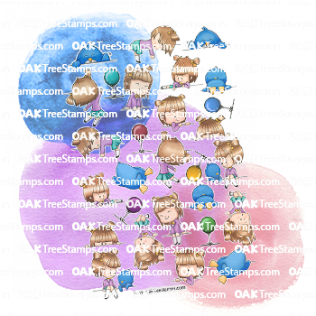 On the Line Sticker Page
