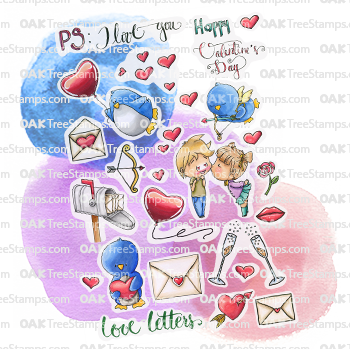 PS: I Love You Sticker Page