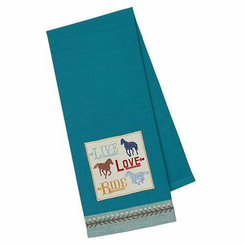 Jacquard Live Love Ride Kitchen Towel