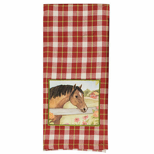 Plaid Cotton Kitchen Towel
