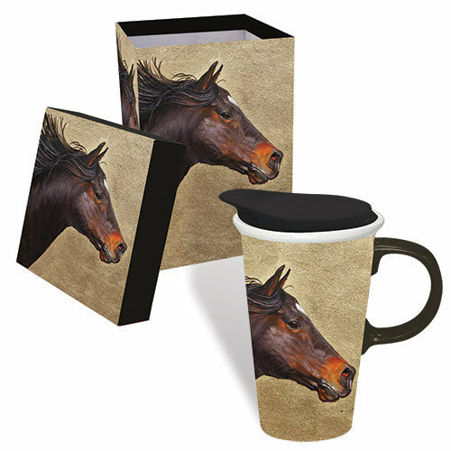 Ceramic Horse Coffee Mug