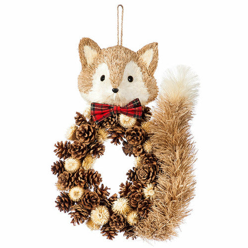Sisal Fox Wall Decor