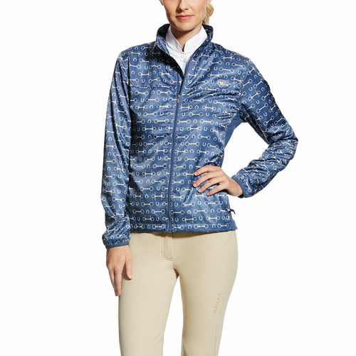 Ariat Ladies Ideal Windbreaker- Blue Bit Print - CarouselHorseTack.com