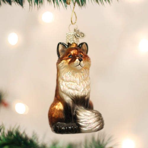 Old World Christmas Glass Fox Ornament - CarouselHorseTack.com