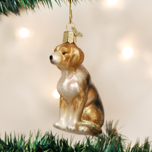 Old World Christmas Beagle Glass Ornament