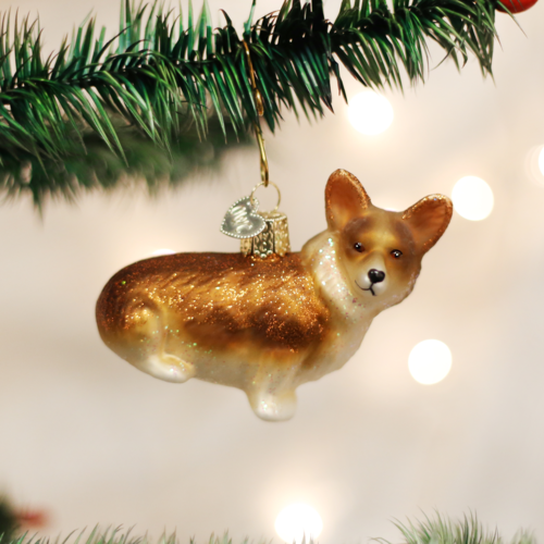 Pembroke Welsh Corgi Glass Ornament - CarouselHorseTack.com