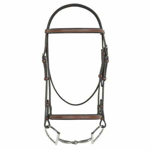 Rodrigo Pessoa Fancy Raised Padded Bridle with Raised Fancy Stitch Reins- Oversize CLOSEOUT - CarouselHorseTack.com