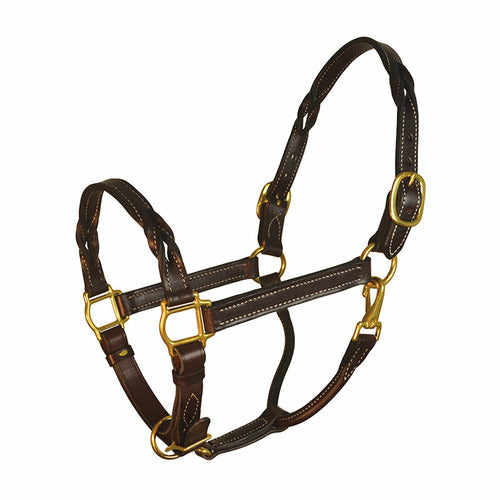 Perri's Twisted Leather Halter - CarouselHorseTack.com