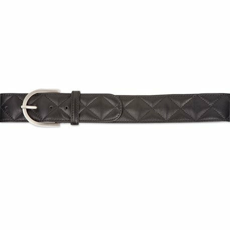 The Tailored Sportsman Black Leather Quilted C Belt - CarouselHorseTack.com