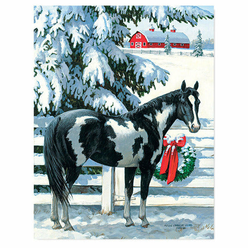 Snowy Stable Boxed Christmas Card Set