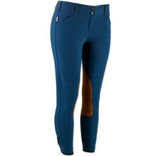 The Tailored Sportsman Ladies Vintage Contrast Patch Front Zip Low Rise Breech
