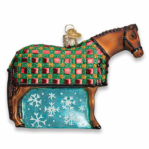Old World Christmas Snowflake Horse Glass Ornament - CarouselHorseTack.com