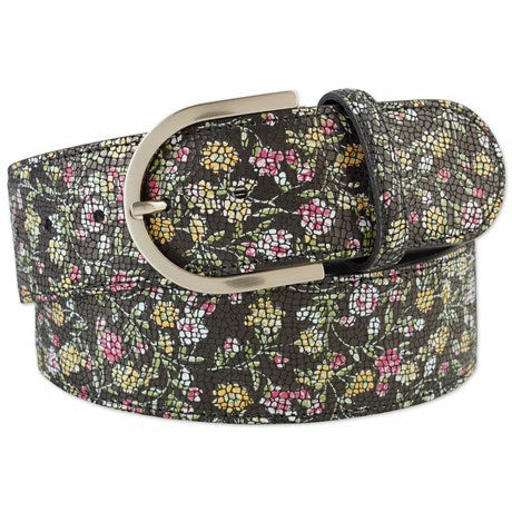 Tailored Sportsman Mosaic Floral Belt