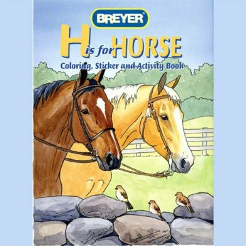 Breyer H is for Horse Coloring Sticker and Activity Book - CarouselHorseTack.com