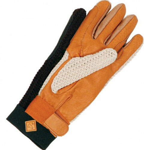 Ovation Ladies Sport Lycrochet Gloves - CarouselHorseTack.com