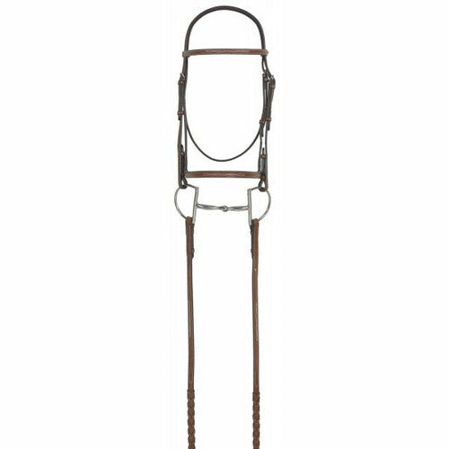 Rodrigo Pessoa Fancy Raised Bridle with Raised Laced Reins - CarouselHorseTack.com