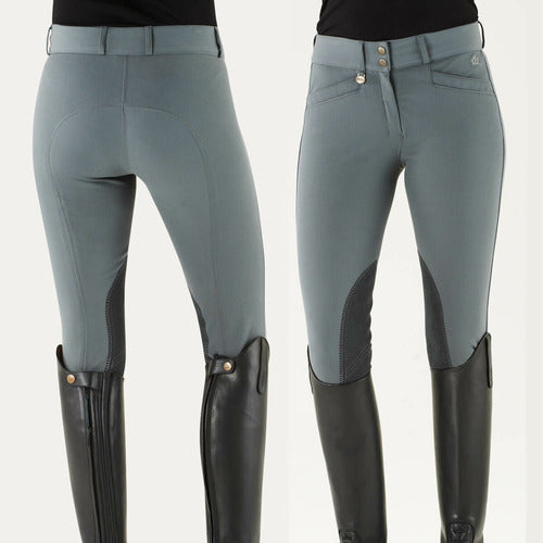 Ovation Ladies Celebrity Euroweave DX Slim Secret Knee Patch Breeches - Regular