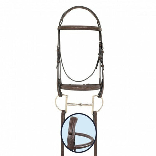 Ovation RCS Wide Padded Nose Bridle - CarouselHorseTack.com