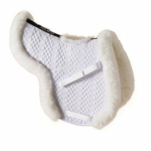 Ovation Europa Sheepskin Hunter Show Pad with Billet Cutout