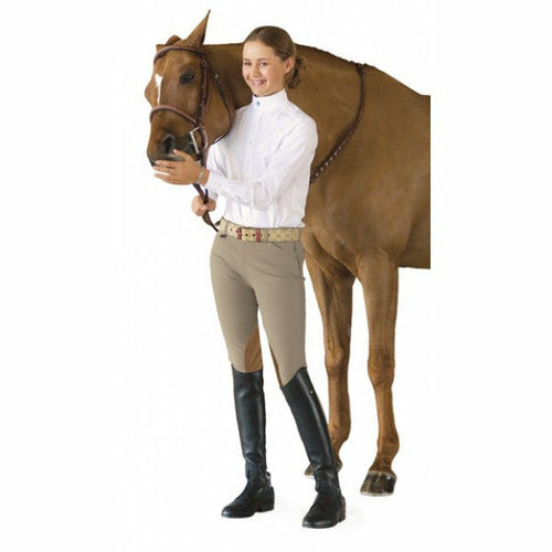 Ovation Girl's Euro Seat Knee Patch Side-Zip Breeches - CarouselHorseTack.com