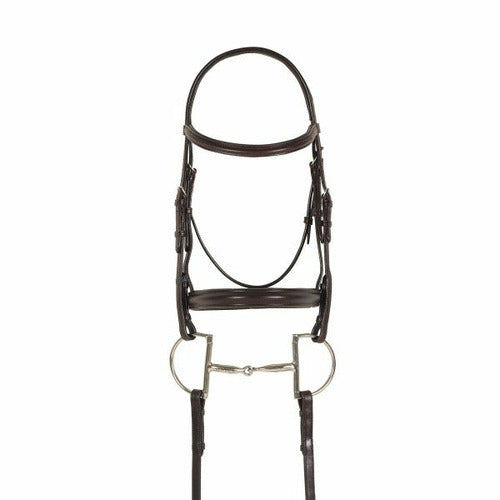 Ovation Breed Plain Raised Padded Bridle- Draft Cross - CarouselHorseTack.com