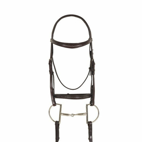 Ovation Breed Fancy Stitched Raised Padded Bridle- Draft Cross - CarouselHorseTack.com