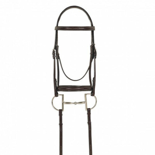 Ovation ATS Round Raised Fancy Stitch Bridle - CarouselHorseTack.com