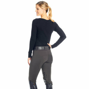 Ovation Ladies Winter Fleece Silicone Knee Patch Breech CLOSEOUT - CarouselHorseTack.com