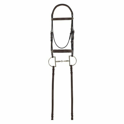 Camelot Gold RCS Fancy Raised Padded Bridle with Reins - CarouselHorseTack.com
