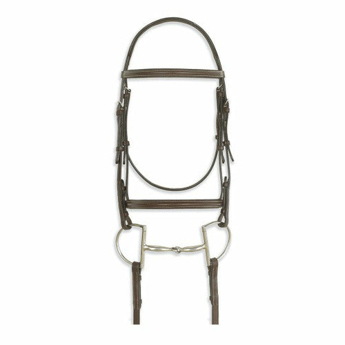 Ovation Classic Colleciton- Plain Raised Comfort Crown Padded Bridle with Laced Reins - CarouselHorseTack.com