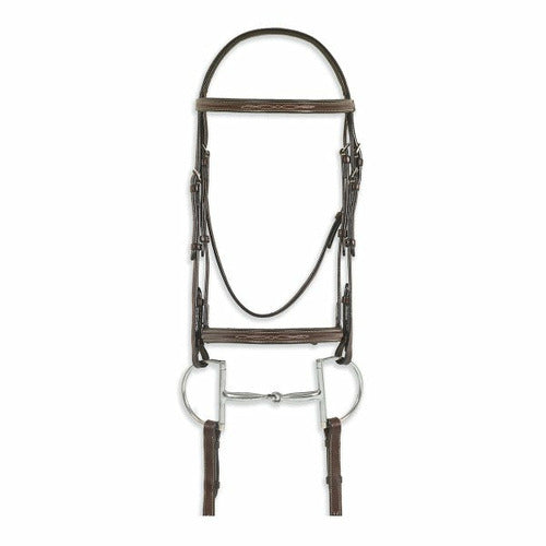 Ovation Classic Collection- Fancy Raised Comfort Crown Padded Bridle with Fancy Raised Laced Reins - CarouselHorseTack.com