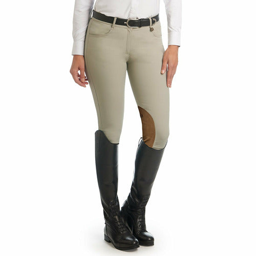 Ovation Ladies Aqua-X Clarino Knee Patch Breech - CarouselHorseTack.com